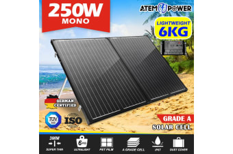 ATEM POWER 250W Folding Solar Panel Kit SUPER LIGHT 12V Mono Flexible Camping