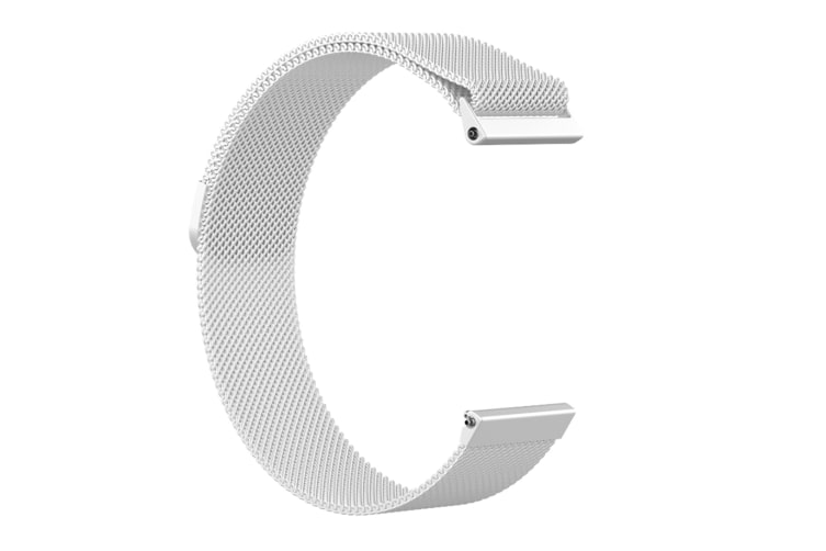 Milanese Loop Metal Replacement Bracelet Strap Wristbands For Fitbit Versa Fitness Smart Watch Silver Large Size
