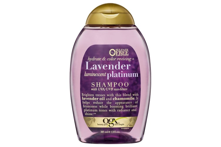 OGX 385mL Hydrate & Colour + Lavender Platinum Shampoo Care UVA/UVB f/Blond Hair