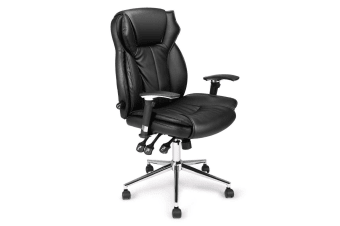 Ergonomic Lumbar Support PU Leather Home Office Chair
