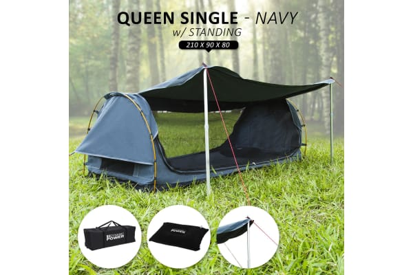 Swag QUEEN SINGLE with Free Standing - NAVY BLUE
