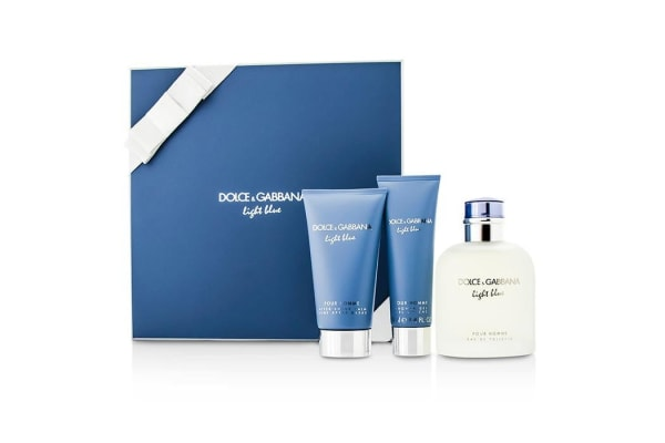 Dolce & Gabbana Homme Light Blue Coffret: EDT Spray 125ml/4.2oz + After Shave Balm 75ml/2.5oz + Shower Gel 50ml/1.6o (3pcs)