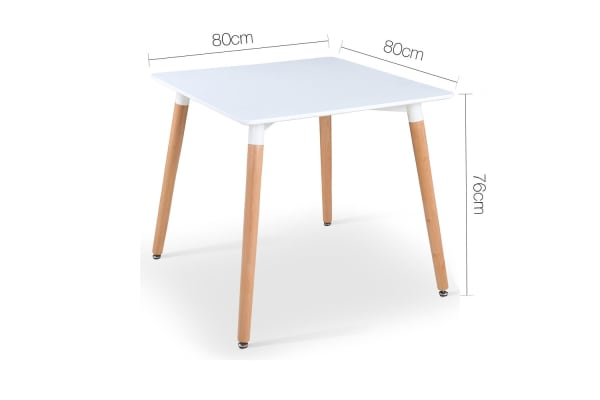 Replica Eames Retro Dining Wooden Table (White)