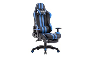 Premium High Back PU Leather Gaming Chair w/ Footrest