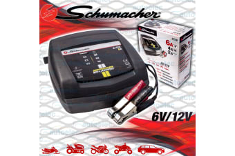 SCHUMACHER 6V & 12V 2/4/6 AMP BATTERY CHARGER CAR MOTORBIKE AGM DEEP CYCLE SLA