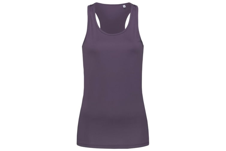 Stedman Womens/Ladies Active Poly Sleeveless Sports Vest (Deep Berry) (S)