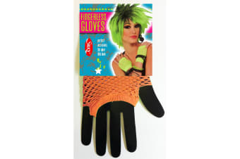 Silky Womens/Ladies Short Fishnet Gloves (1 Pair) (Neon Orange) (One Size)