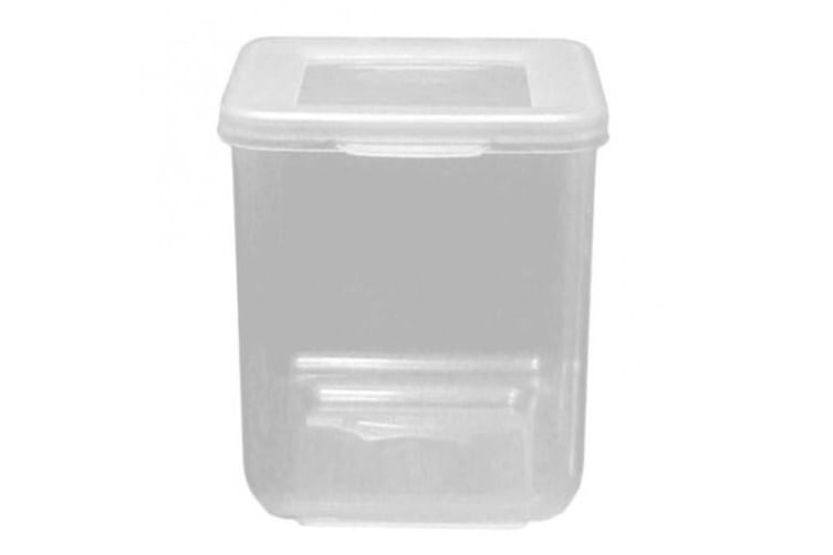 Beaufort Hinged Square Food Container (Transparent) (300ml)