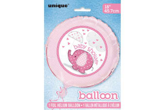 Unique Party Umbrellaphants Baby Shower 18in Foil Balloon (Pink) (45cm)