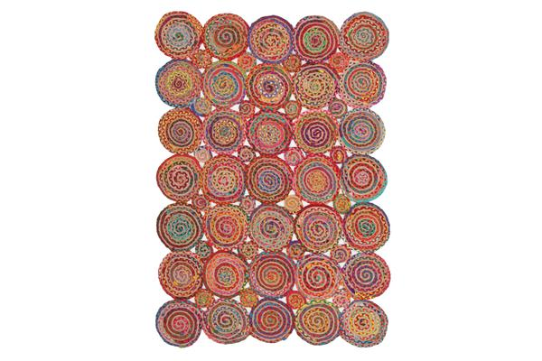 Amilia Cotton and Jute Rug Multi 220x150cm
