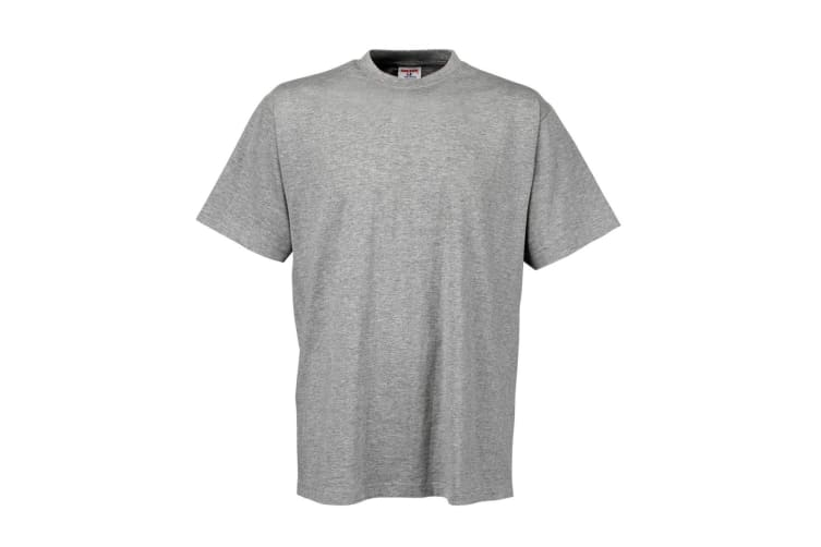 Tee Jays Mens Short Sleeve T-Shirt (Heather Grey) (L)