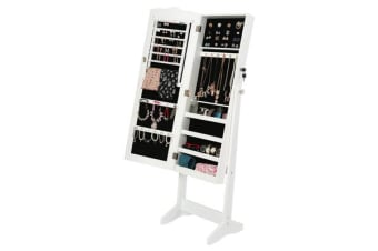 Mirror Jewellery Cabinet NYKA - White