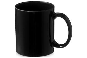 Bullet Santos Ceramic Mug (Pack of 2) (Solid Black) (9.7 x 8.2 cm)