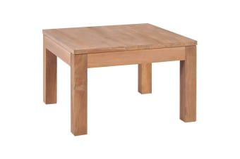 vidaXL Coffee Table Solid Teak Wood with Natural Finish 60x60x40 cm