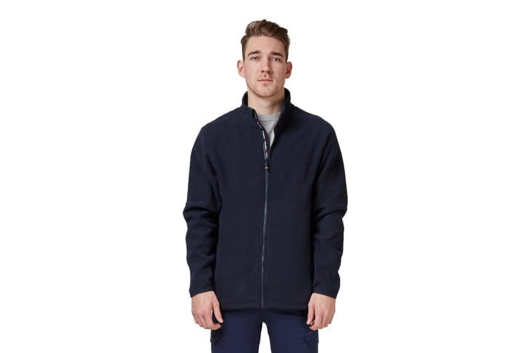 King Gee Full Zip Fleece (Navy, Size 3XL)