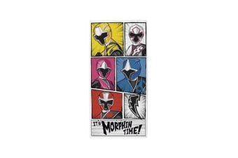 Power Rangers Official Ninja Morphin Time Towel (Multicoloured) (One Size)