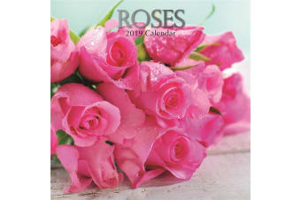 Roses - 2019 Premium Square Wall Calendar 16 Month New Year Christmas Decor Gift