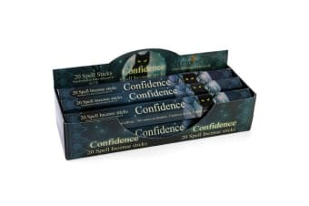 Elements Confidence Spell Incense Sticks (Box Of 6 Packs) (Blue)