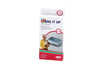 Savic Bag It Up Large Cat Litter Tray Bags (Pack Of 12) (Assorted)