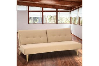 Soho 3 Seater Modular Linen Fabric Sofa Bed Couch  - Beige