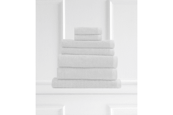 Style & Co Resort 7 Piece Towel Pack 600GSM Egyptian Cotton Hotel Grade - White Chocolate