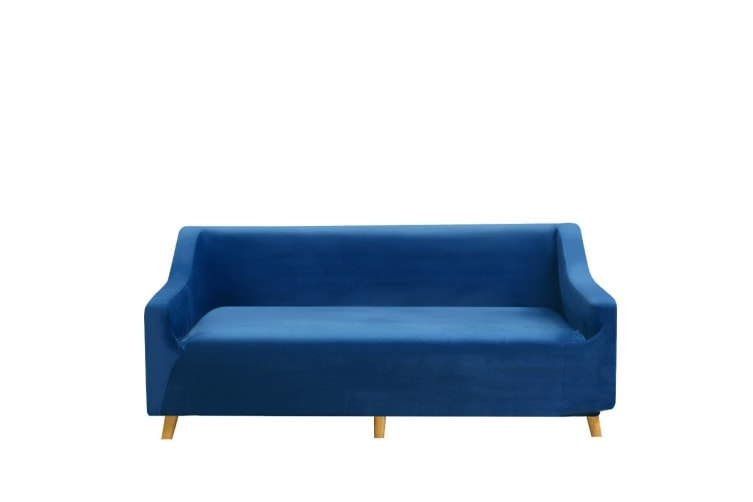 Dreamz Couch Stretch Sofa Lounge Cover Protector Chair Slipcover 3 Seater Navy
