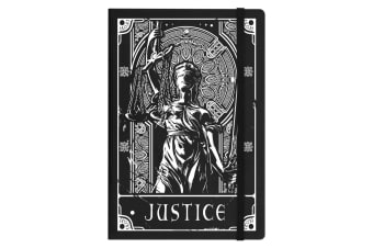 Deadly Tarot Justice A5 Hard Cover Notebook (Black)