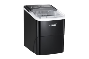 MAXKON Ice Maker Ice Cube Machine 12KG Ice Capacity Black