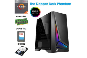 ATG AMD Ryzen 3 16GB RAM 240GB SSD 2TB HDD Gaming Computer System Office Desktop PC - ATG-R32200-16G2T-RGB