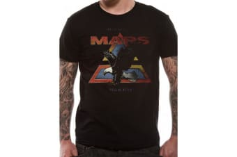 30 Seconds To Mars Walk On Water Vintage Eagle Design Unisex Adults T-Shirt (Black)
