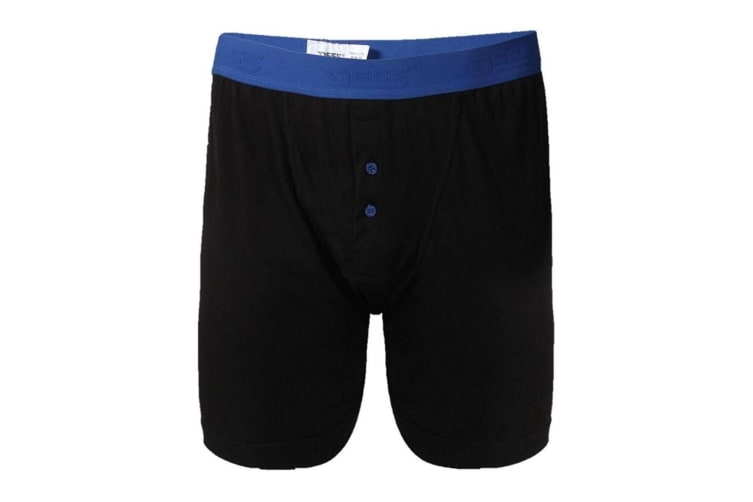 Duke Mens Ranger Kingsize Boxer Shorts (2 Pairs) (Black) (7XL)
