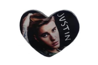 Justin Bieber Heart Shaped Cushion (Multicoloured) (One Size)