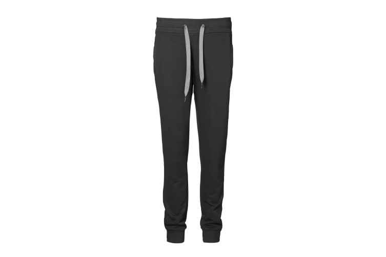 ID Womens/Ladies Sporty Loose Fitting Sweatpants/Jogging Bottoms (Black) (2XL)
