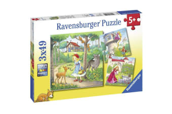 Ravensburger Rapunzel, Riding Hood and Frog Jigsaw Puzzle - 3 x 49 Piece