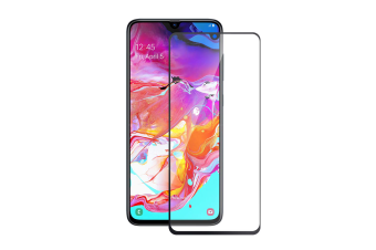 Full Cover Tempered Glass Screen Protector For Galaxy A70-Black