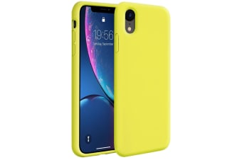 ZUSLAB iPhone XR Case Nano Silicone Shockproof Gel Rubber Bumper Protective Cover for Apple 2018 - Yellow