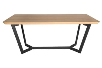Delta Collection | Wood Dining Table | Matte Black & Natural | 180cm