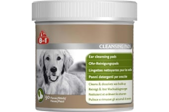 Tetra 8-In-1 Dog Ear Cleansing Pads (Pack of 90) (Multicoloured) (One Size)