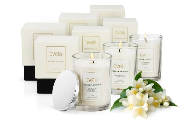 Ovela Scented Soy Wax Candle 6 Piece Collection (Secret Garden)