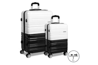 Wanderlite 2 Piece Luggage Trolley Set – (Black) and (White)