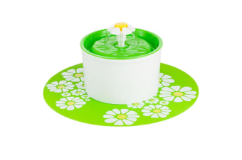 Automatic Electric Pet Water Fountain Dog/Cat Drinking Bowl Waterfall Drinkwell  -  GreenGreen