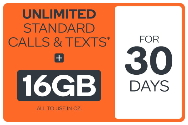 Kogan Mobile Prepaid Voucher Code: EXTRA LARGE (30 Days | 16GB)