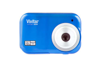 Vivitar ViviCam X054 Digital Camera/10MP/Photo/Video/1.5inch LCD/AAA/USB/Blue