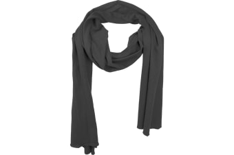 Build Your Brand Adults Unisex Jersey Scarf (Black)