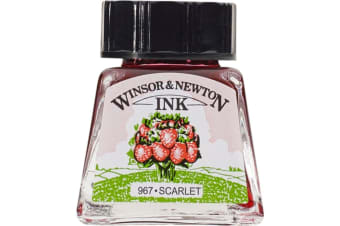 Winsor and Newton Drawing ink 14ml : Scarlet