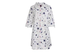Foxbury Womens/Ladies Star Print Nightshirt (White/Stars)