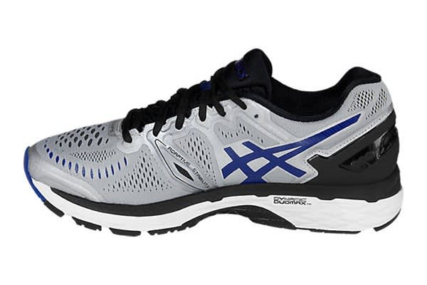 ASICS Men's Gel-Kayano 23 (Silver/Imperial/Black, Size 8.5)