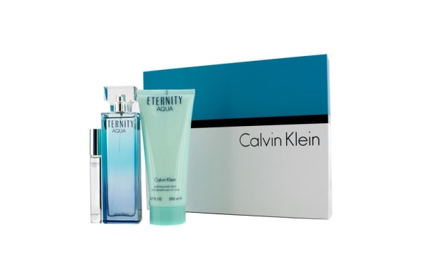 Calvin Klein Eternity Aqua Coffret: Eau De Parfum Spray 100ml/3.4oz + Body Lotion 200ml/6.7oz + Eau De Parfum Rollerball 10ml/0.33oz (3pcs)