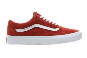 Vans Unisex Old Skool Pig Suede Shoe (Burntbrick/True White, Size 4 US)