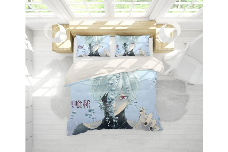 3D Anime Mask Ghoul Quilt Cover Set Bedding Set Pillowcases 60-Double